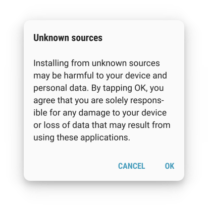 android security unknown sources