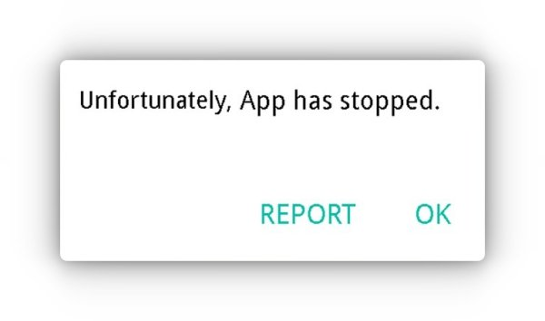App has stopped