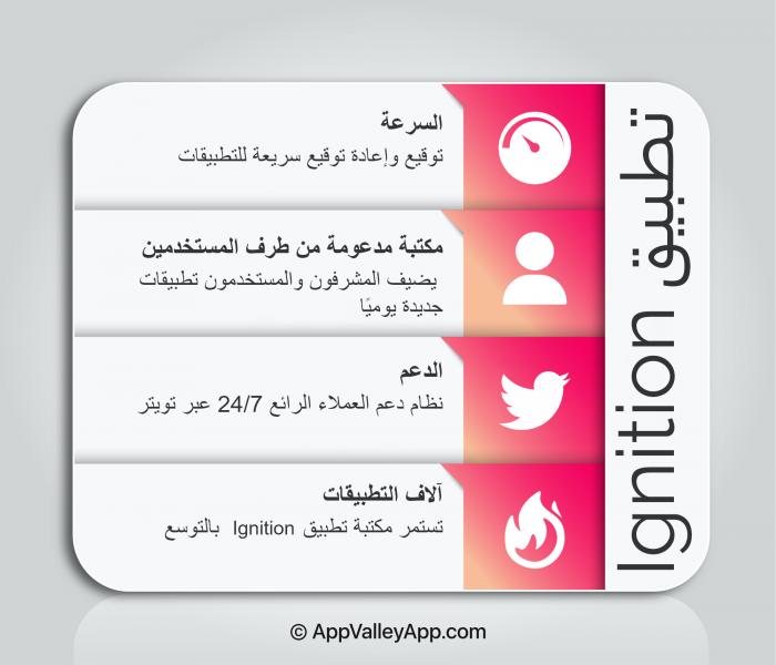 ignition app arabic